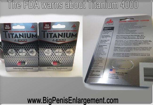 FDA warns about Titanium 4000 ingredients